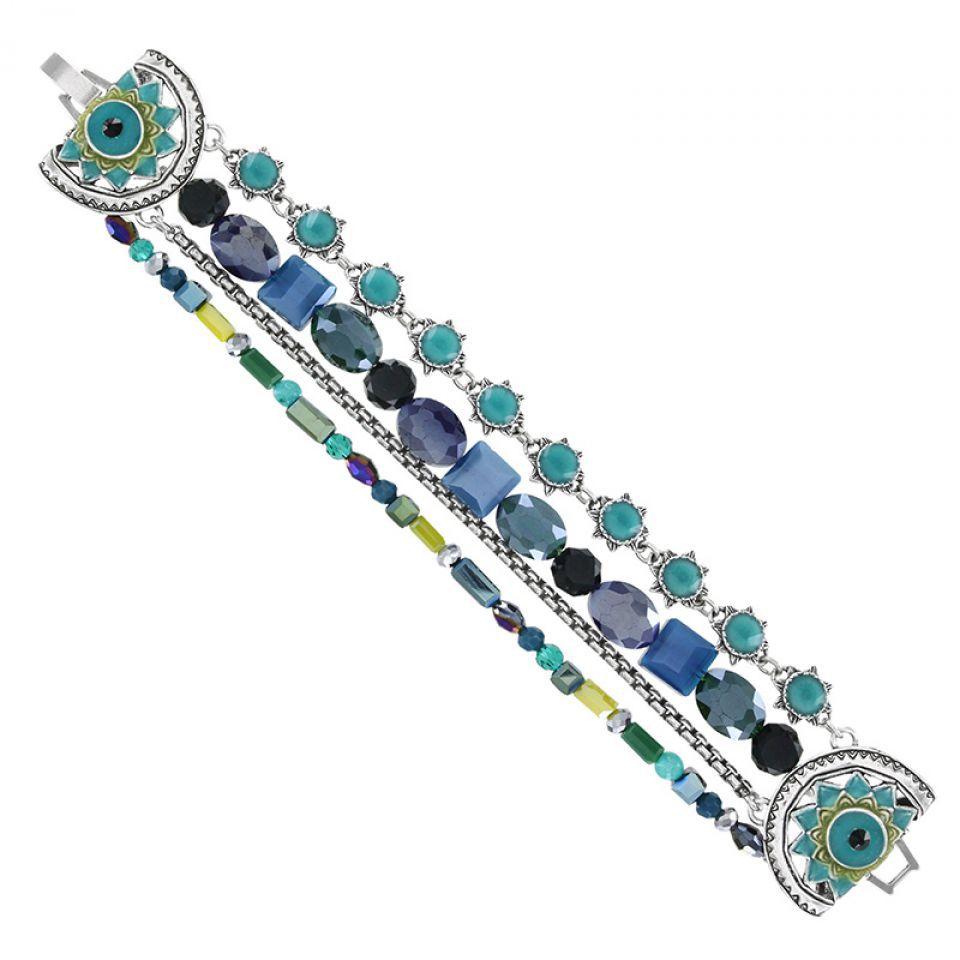 Bracelet Verone Argent Bleu Taratata Bijoux Fantaisie en ligne 1