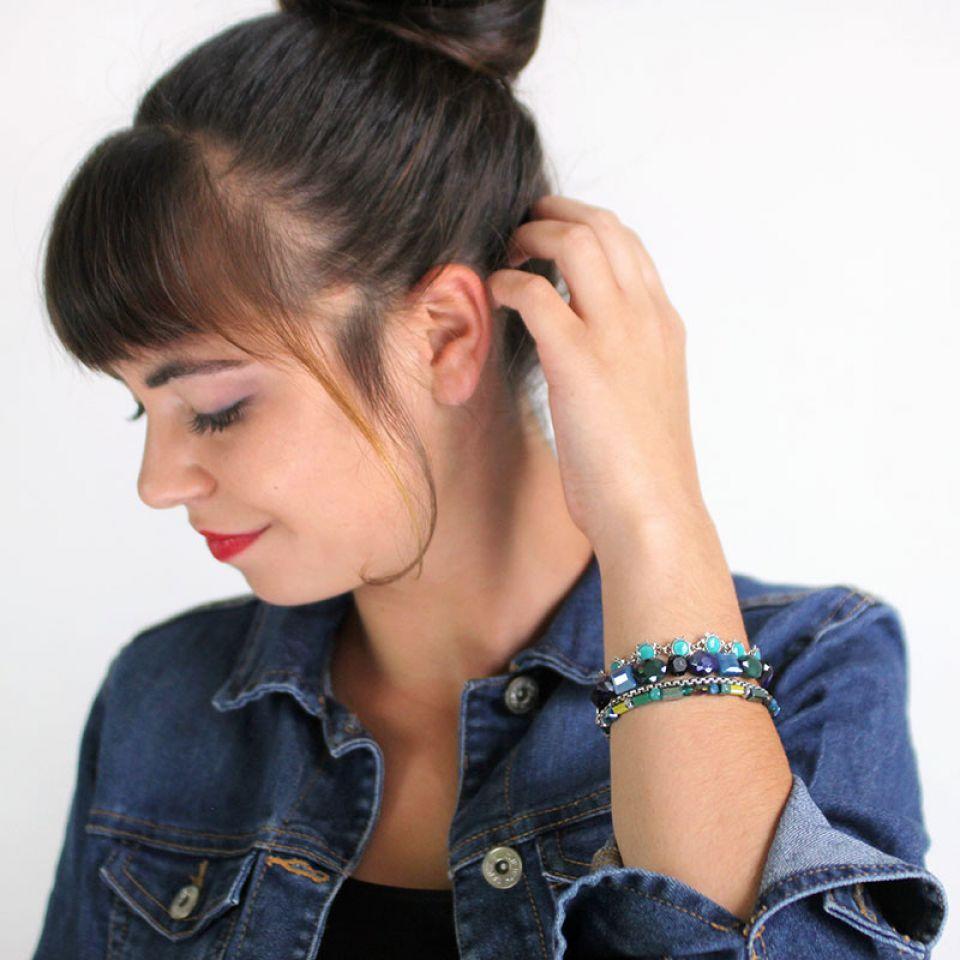 Bracelet Verone Argent Bleu Taratata Bijoux Fantaisie en ligne 2