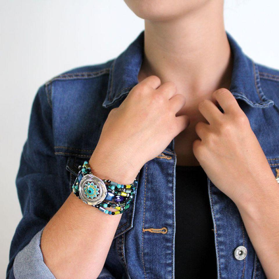 Bracelet Verone Argent Bleu Taratata Bijoux Fantaisie en ligne 3