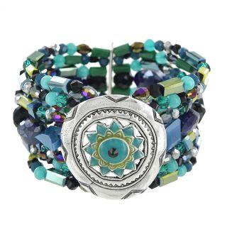 Bracelet Verone Argent Bleu