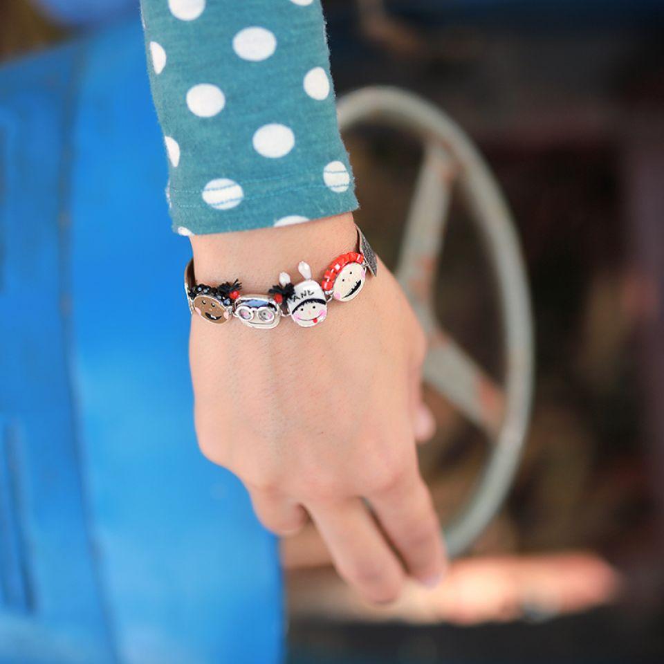 Bracelet Vive La Recre Argent Multi Taratata Bijoux Fantaisie en ligne 1