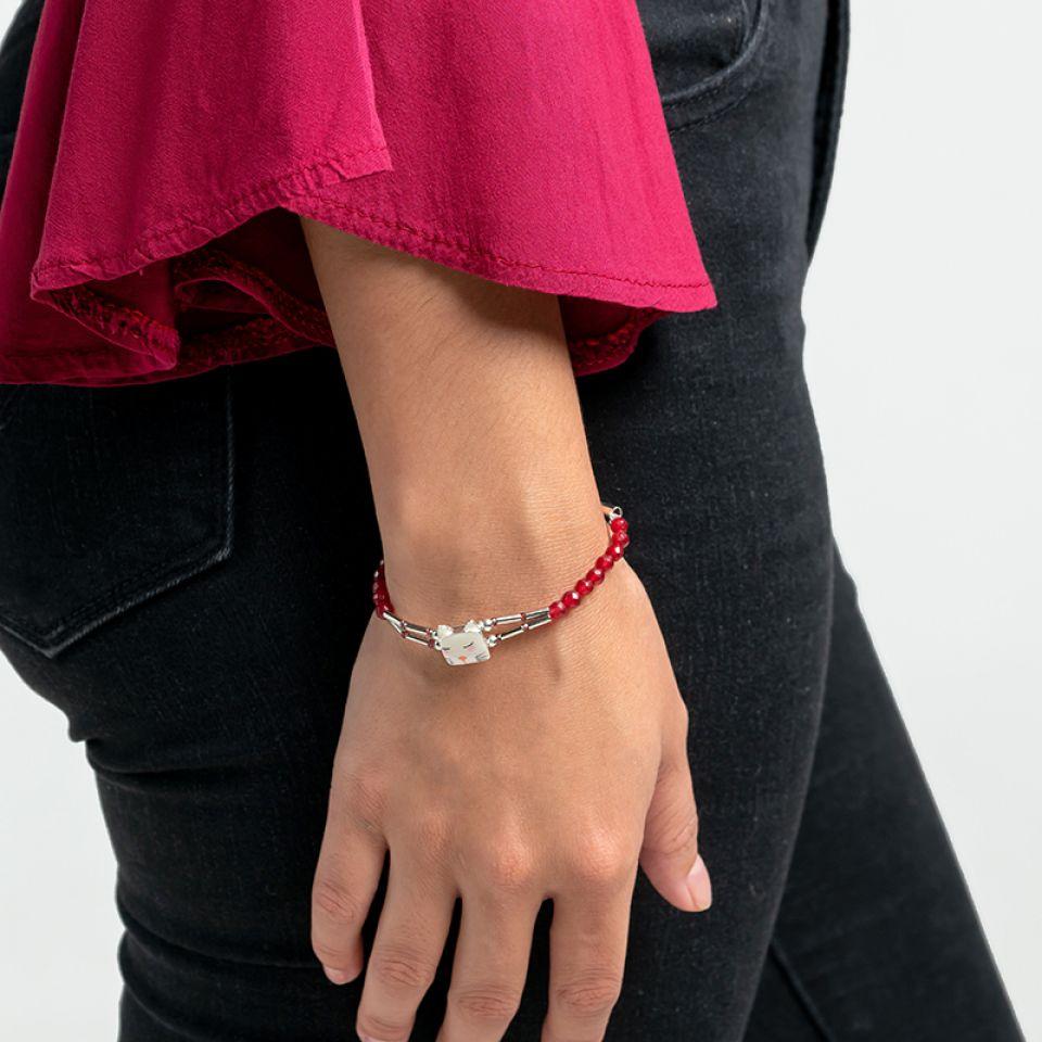 Bracelet Wake Up! Argente Rose Taratata Bijoux Fantaisie en ligne 2