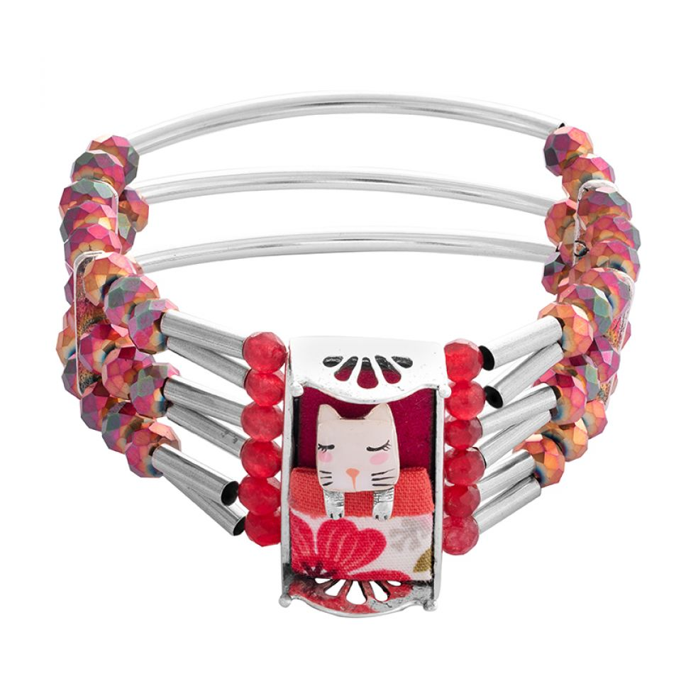 Bracelet Wake Up! Argente Rose Taratata Bijoux Fantaisie en ligne 3