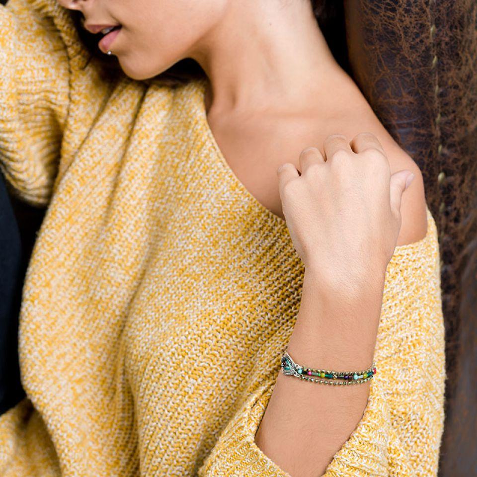 Bracelet Zamba Argent Multi Taratata Bijoux Fantaisie en ligne 2