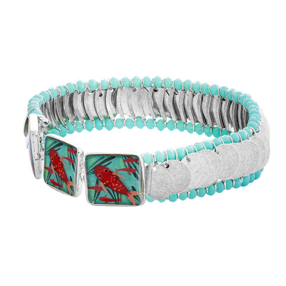 Bracelet Zigzag Argente Bleu Taratata Bijoux Fantaisie en ligne 3