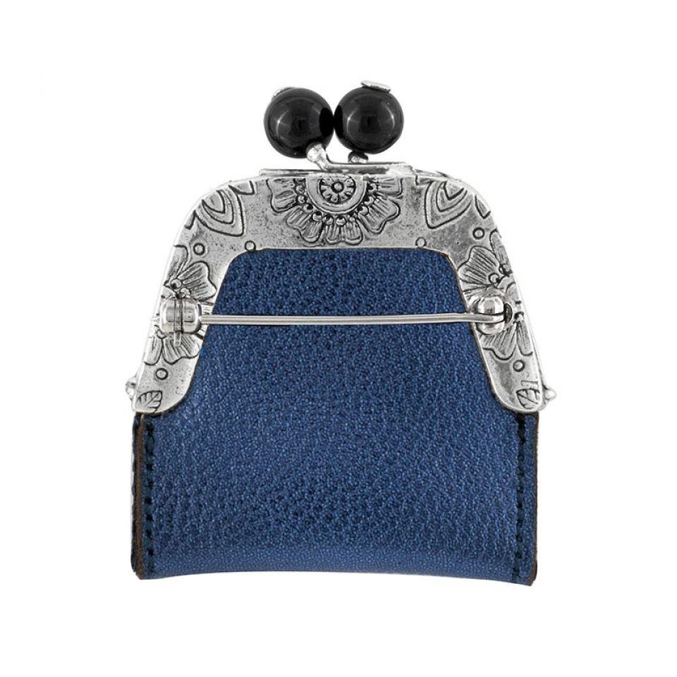 Broche Grisbi Couleur Argent Bleu Taratata Bijoux Fantaisie en ligne 3