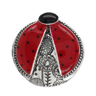Broche Ladybird Argent Rouge