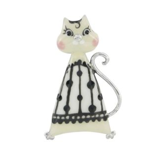 Broche Smart Cat Ivoire
