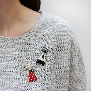 Broche Smart Cat Rouge