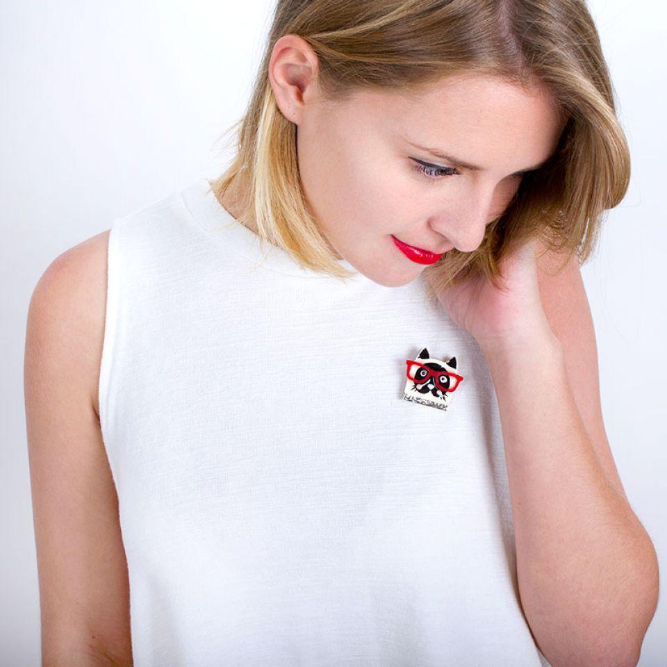 Broche Taraboum Argent Multi Taratata Bijoux Fantaisie en ligne 1