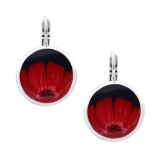Dormeuses Gombos Argent Rouge