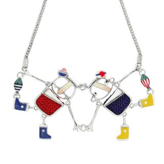 Collier A L Abordage Argent Multi
