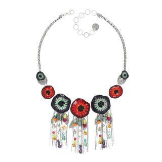Collier Arabesque Argent Multi