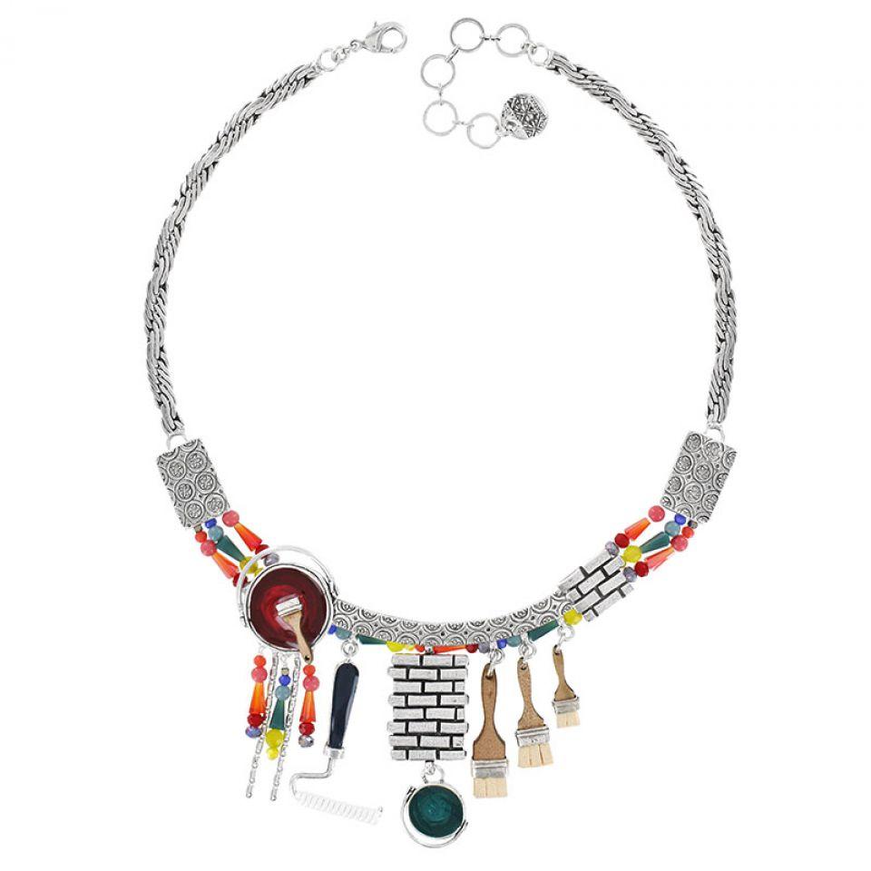 Collier Archi-chic Argent Multi Taratata Bijoux Fantaisie en ligne 2