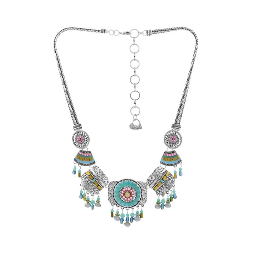 Collier Esperanza Argent Bleu Taratata Bijoux Fantaisie en ligne 1