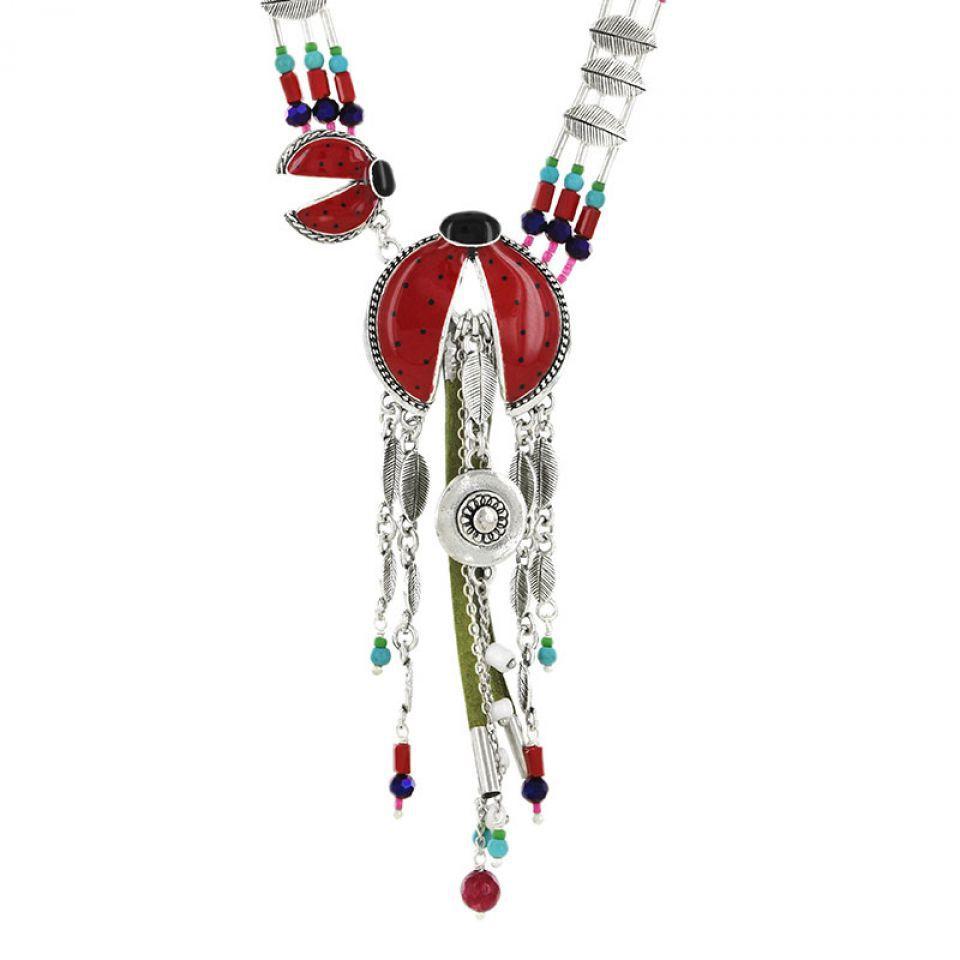 Collier Ladybird Argent Rouge Taratata Bijoux Fantaisie en ligne 2