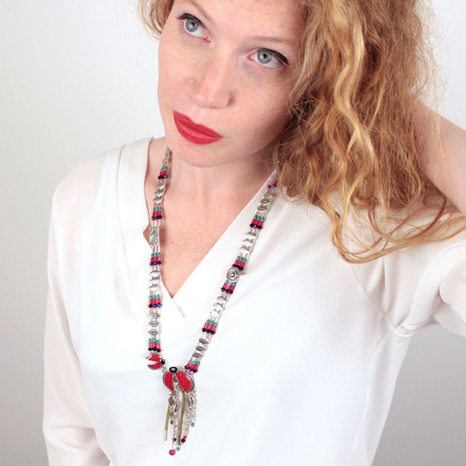 Collier Ladybird Argent Rouge Taratata Bijoux Fantaisie en ligne 3