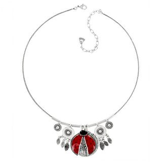 Collier Ladybird Argent Rouge