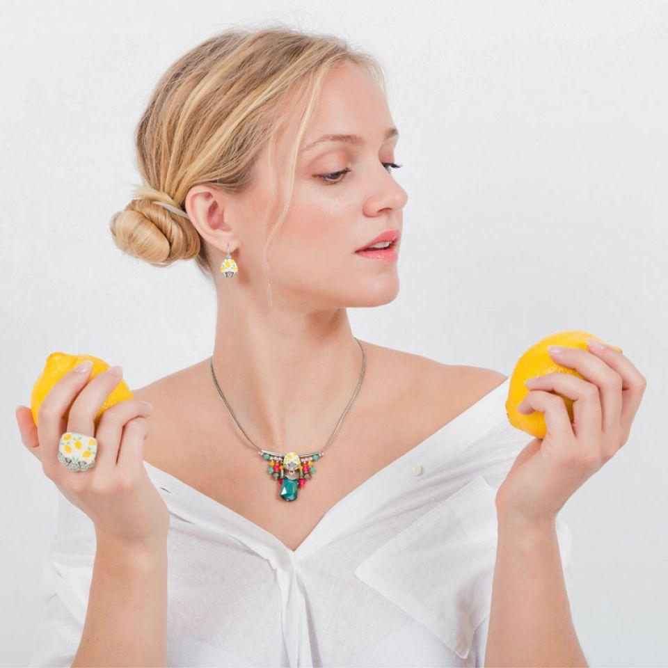 Collier Lemon Argent Multi Taratata Bijoux Fantaisie en ligne 2