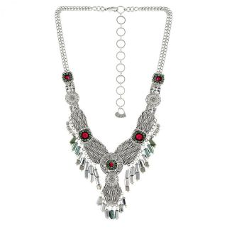 Collier Locomotive Argent Multi