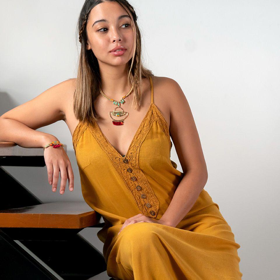 Collier Marie-rose Dore Multi Taratata Bijoux Fantaisie en ligne 2