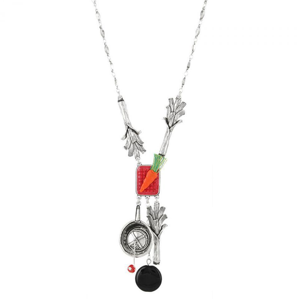 Collier Poil De Carotte Argent Multi Taratata Bijoux Fantaisie en ligne 1