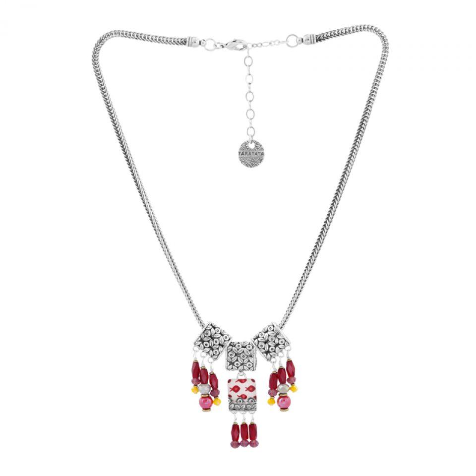 Collier Ravissante Argent Rouge Taratata Bijoux Fantaisie en ligne 3