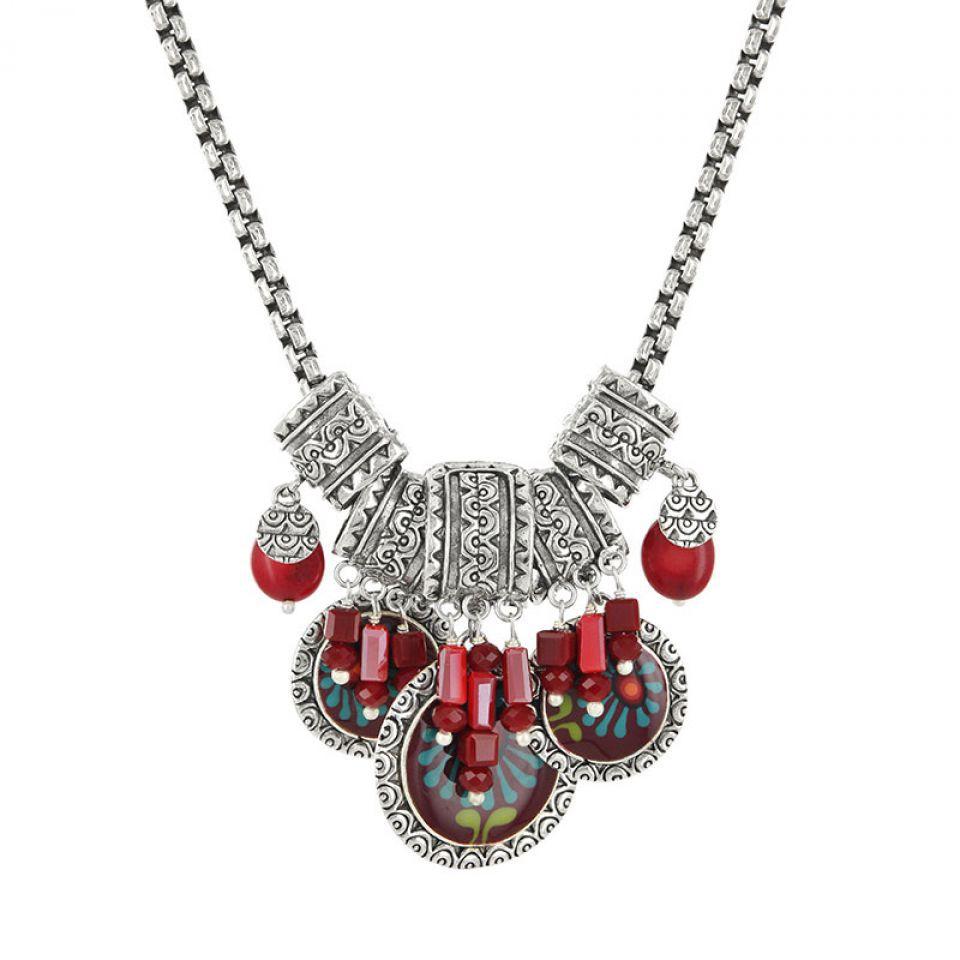 Collier Ruby Argent Rouge Taratata Bijoux Fantaisie en ligne 1