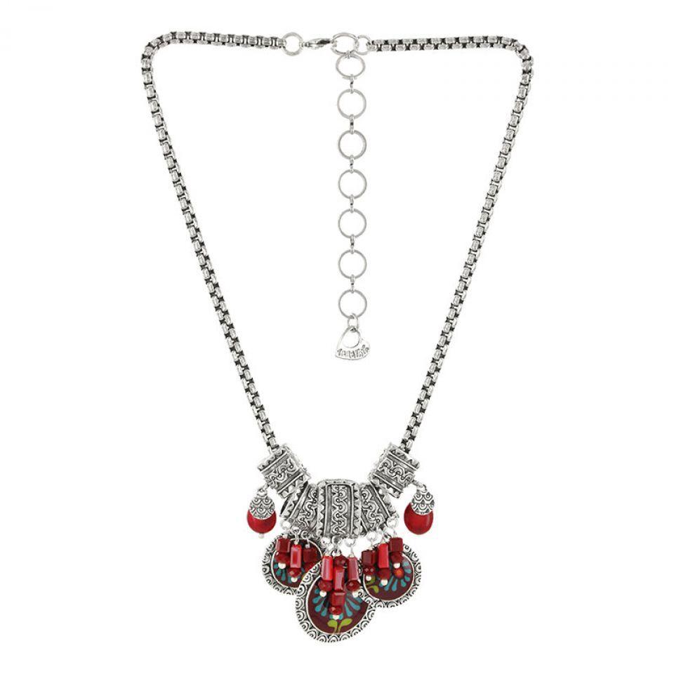Collier Ruby Argent Rouge Taratata Bijoux Fantaisie en ligne 3