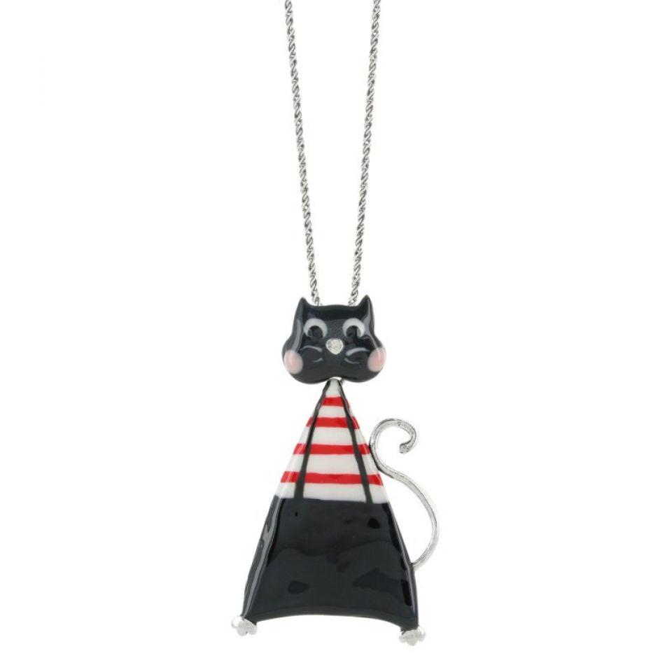 Collier Smart Cat Noir Taratata Bijoux Fantaisie en ligne 1