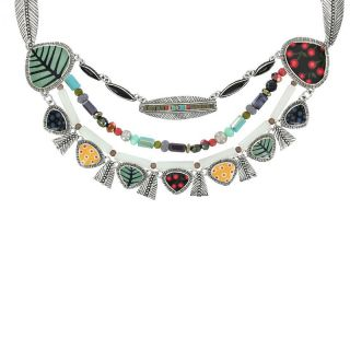 Collier Smocks Argent Multi