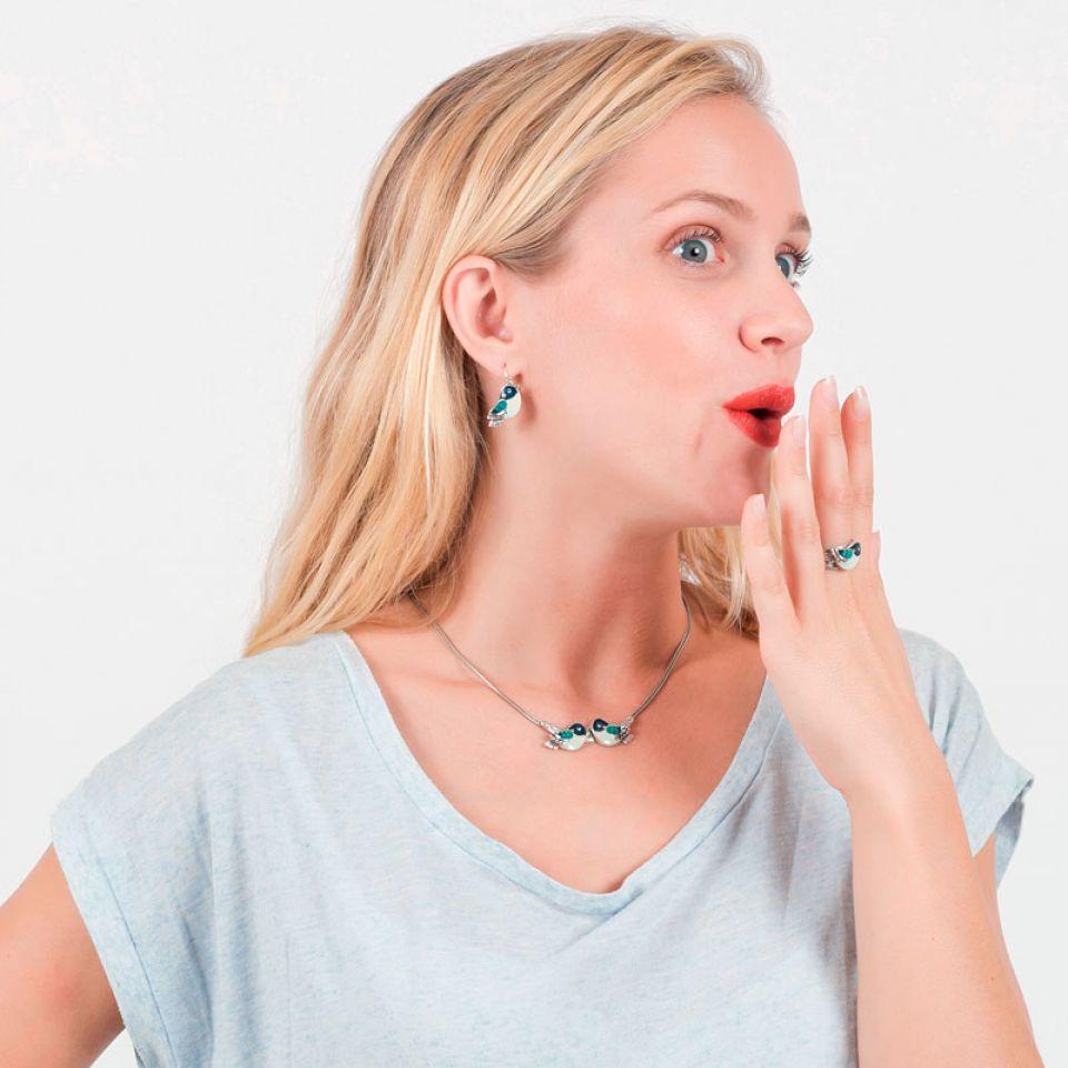 Collier Taraboum Argent Bleu Taratata Bijoux Fantaisie en ligne 2
