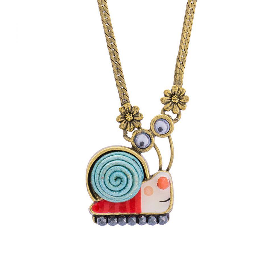 Collier Il Pleut Bronze Bleu Taratata Bijoux Fantaisie en ligne 1