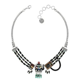 Collier Tea For Two Argent Multi