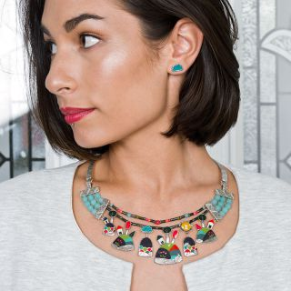 Collier Week-end Argent Multi