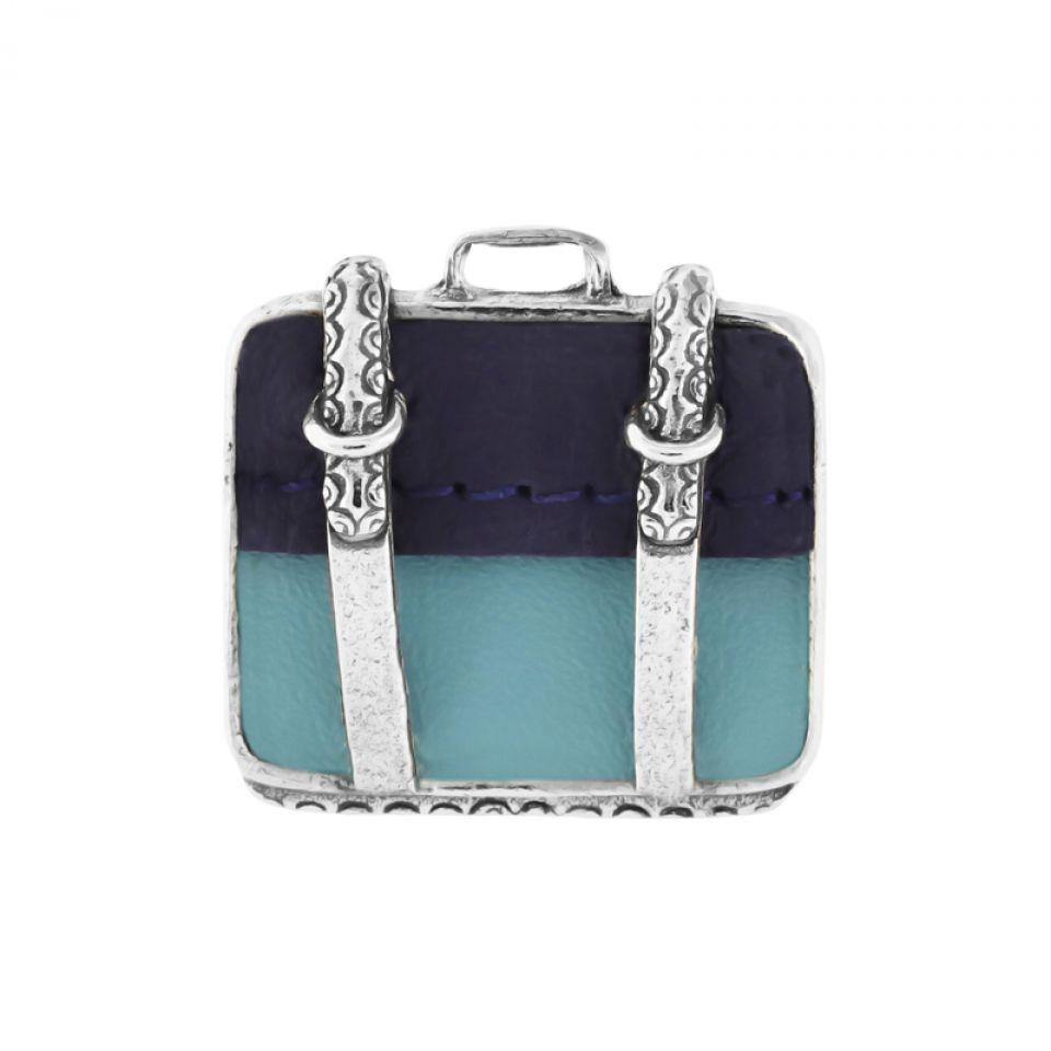 Bague Bon Voyage Argent Bleu Taratata Bijoux Fantaisie en ligne 1