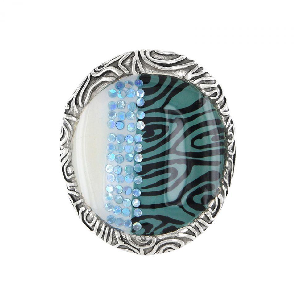 Bague Bonita Argent Bleu Taratata Bijoux Fantaisie en ligne 2