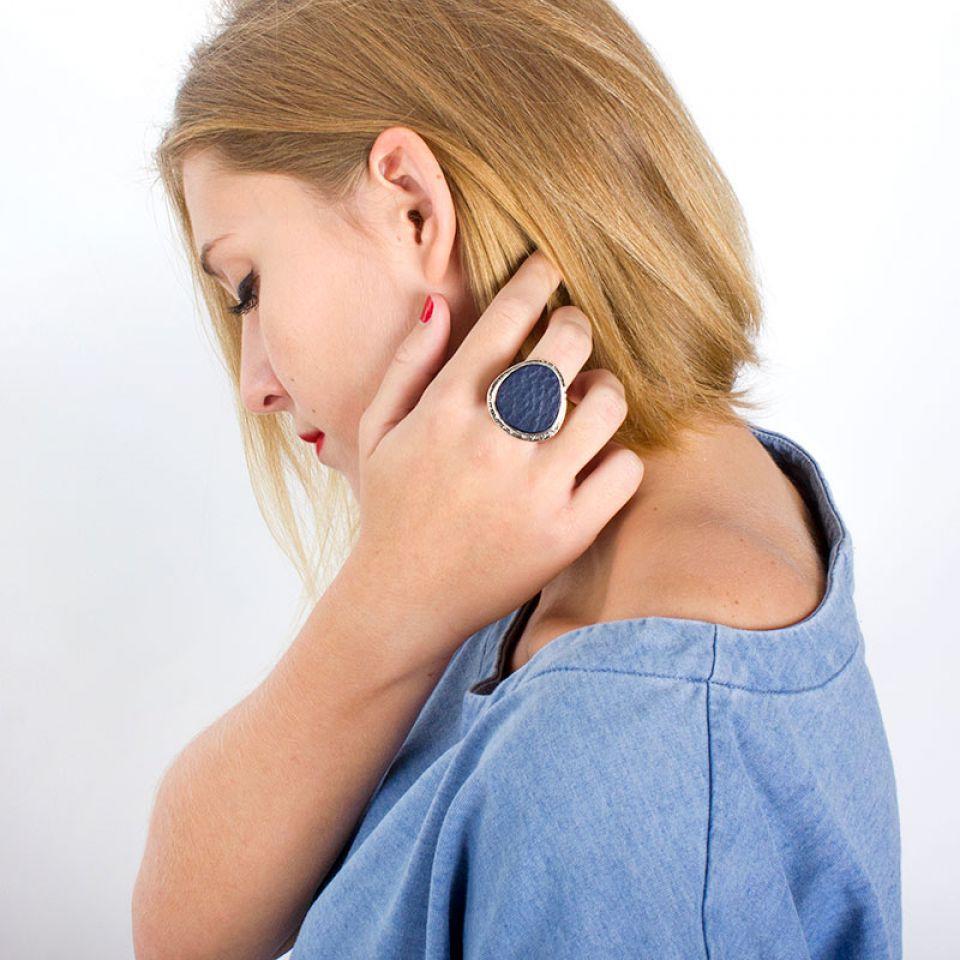 Bague Chloe Argent Bleu Taratata Bijoux Fantaisie en ligne 1