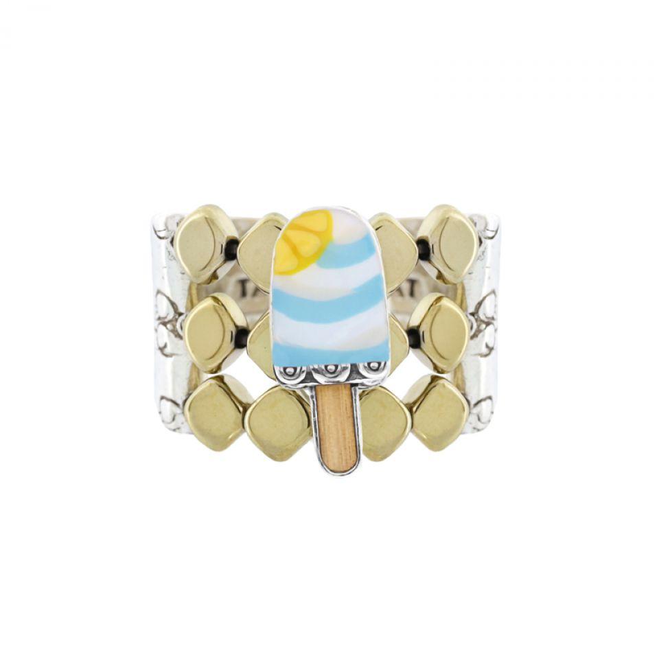 Bague Chouchous Argent Bleu Taratata Bijoux Fantaisie en ligne 3