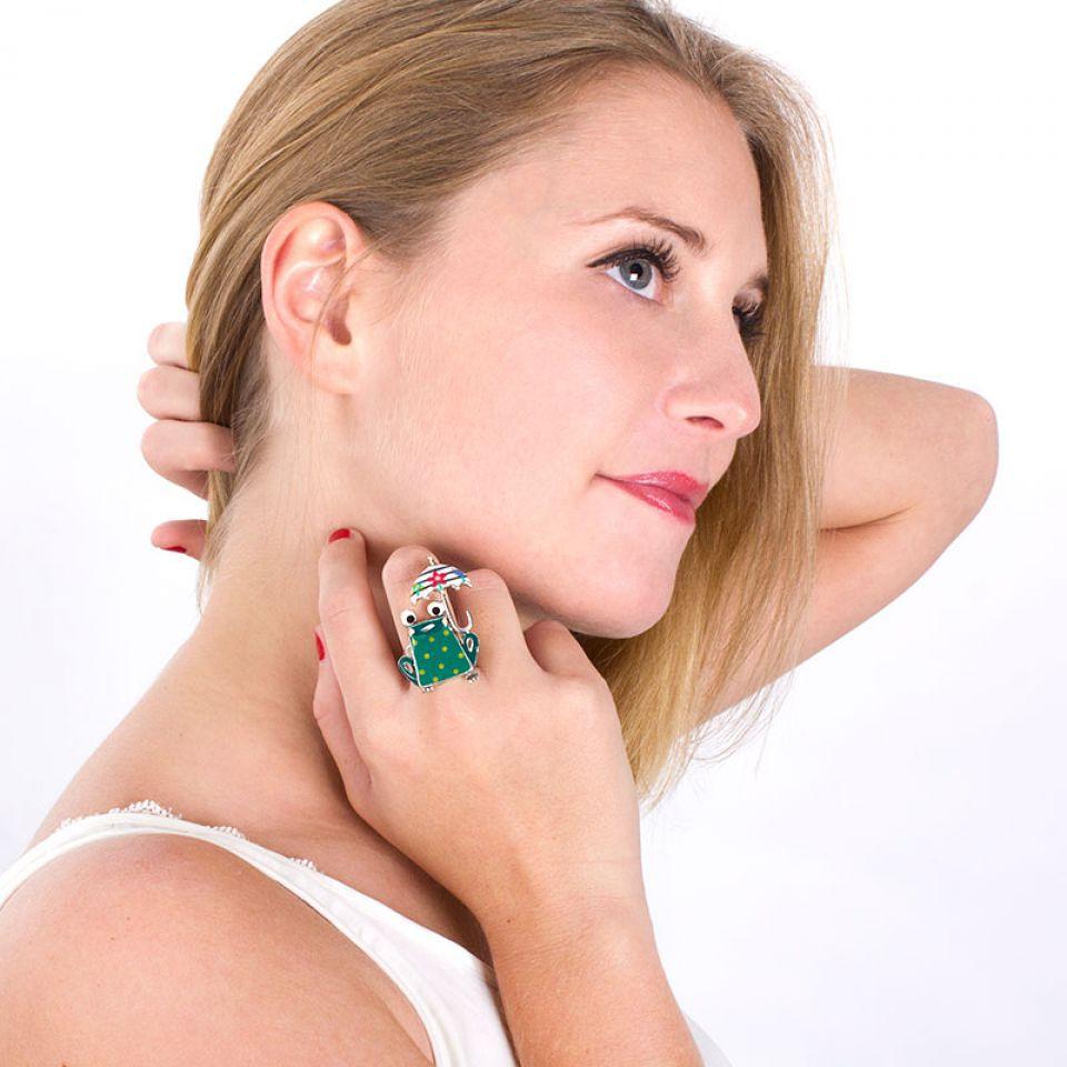 Bague Claquette Argent Multi Taratata Bijoux Fantaisie en ligne 2