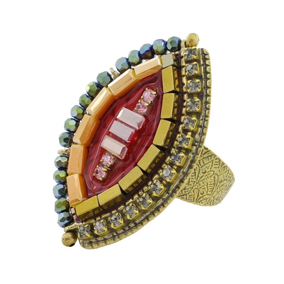 Bague Coquetterie Bronze Rouge Taratata Bijoux Fantaisie en ligne 3