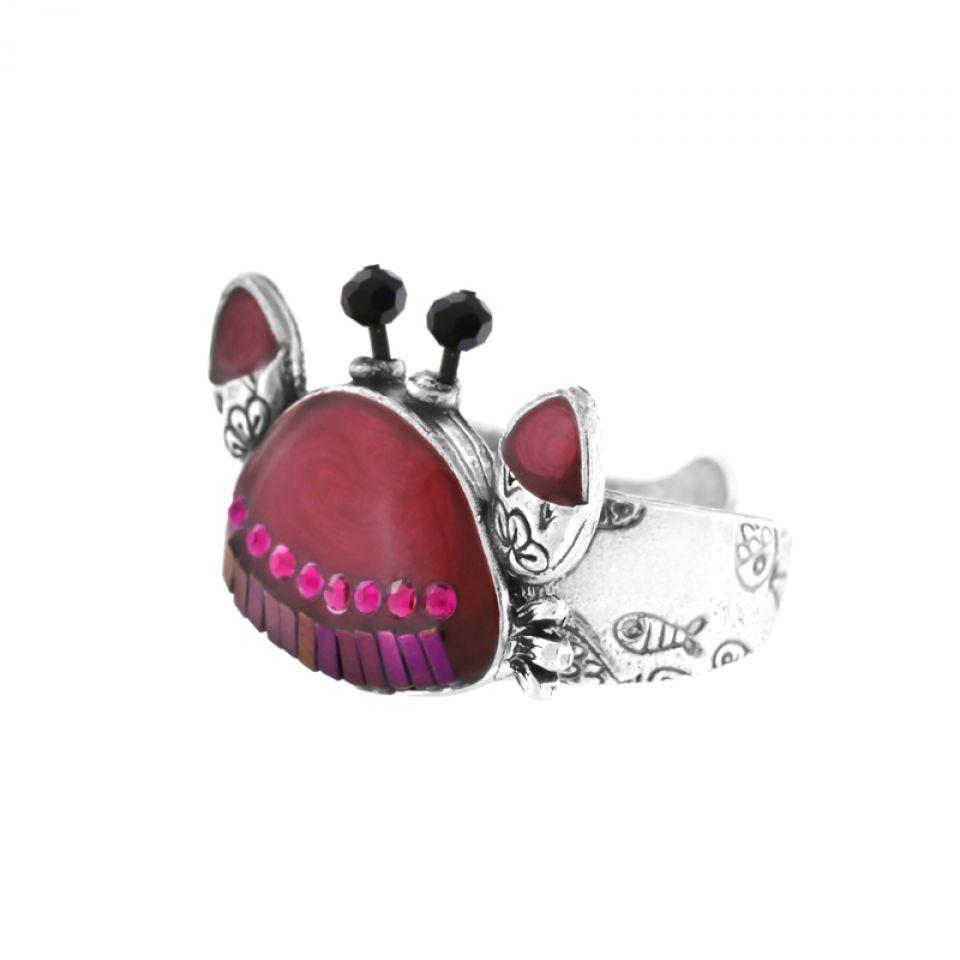Bague Corail Argent Rouge Taratata Bijoux Fantaisie en ligne 3