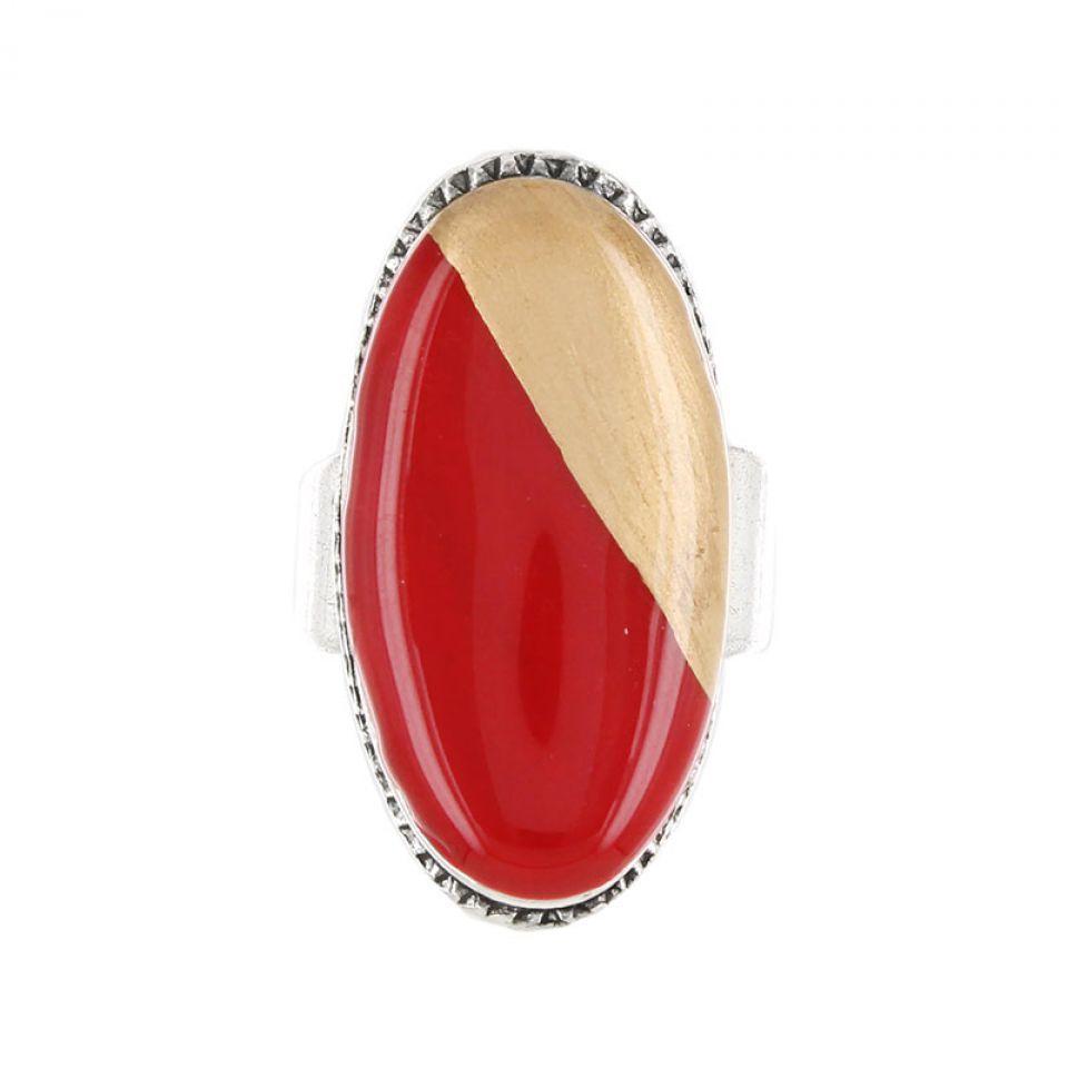 Bague Dressing Argent Rouge Taratata Bijoux Fantaisie en ligne 2