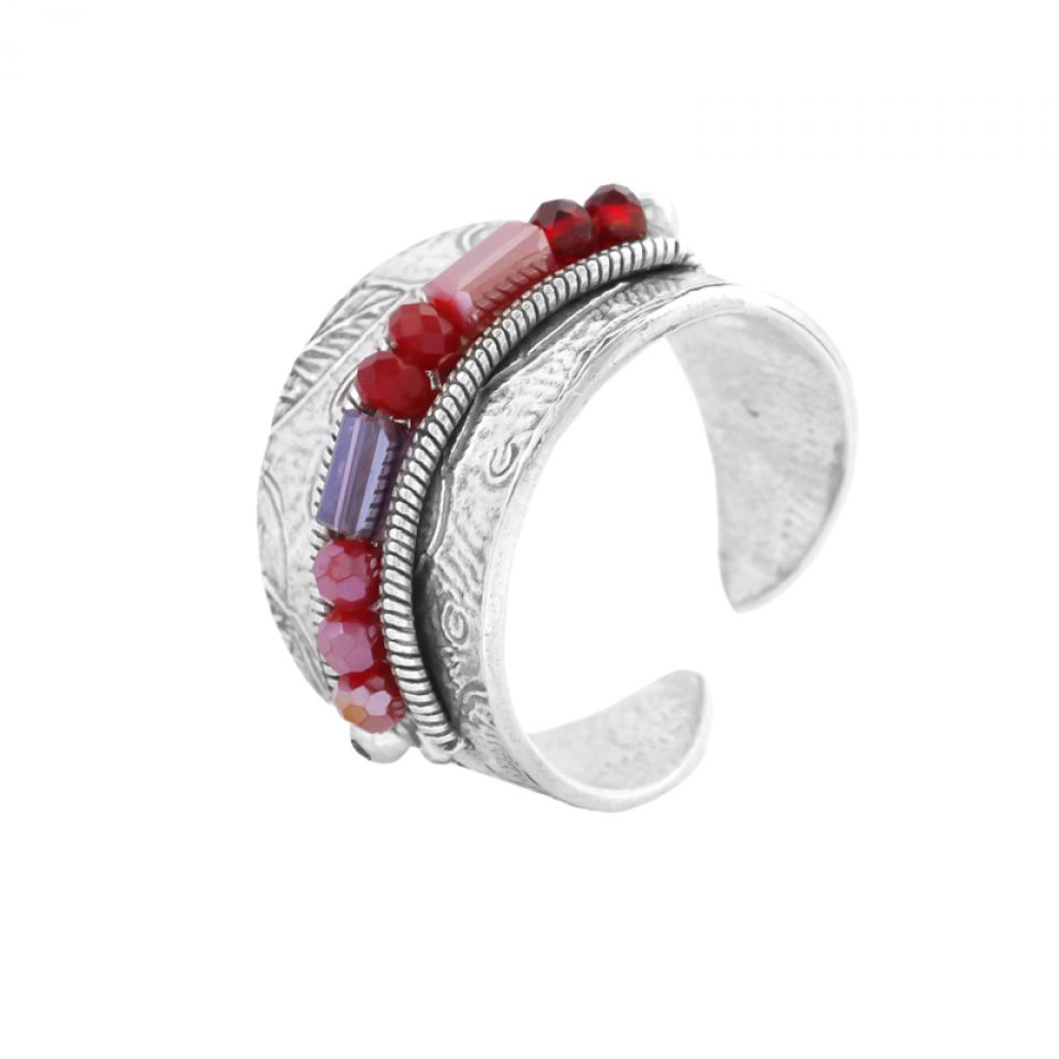 Bague Grenadine Argent Rouge Taratata Bijoux Fantaisie en ligne 1