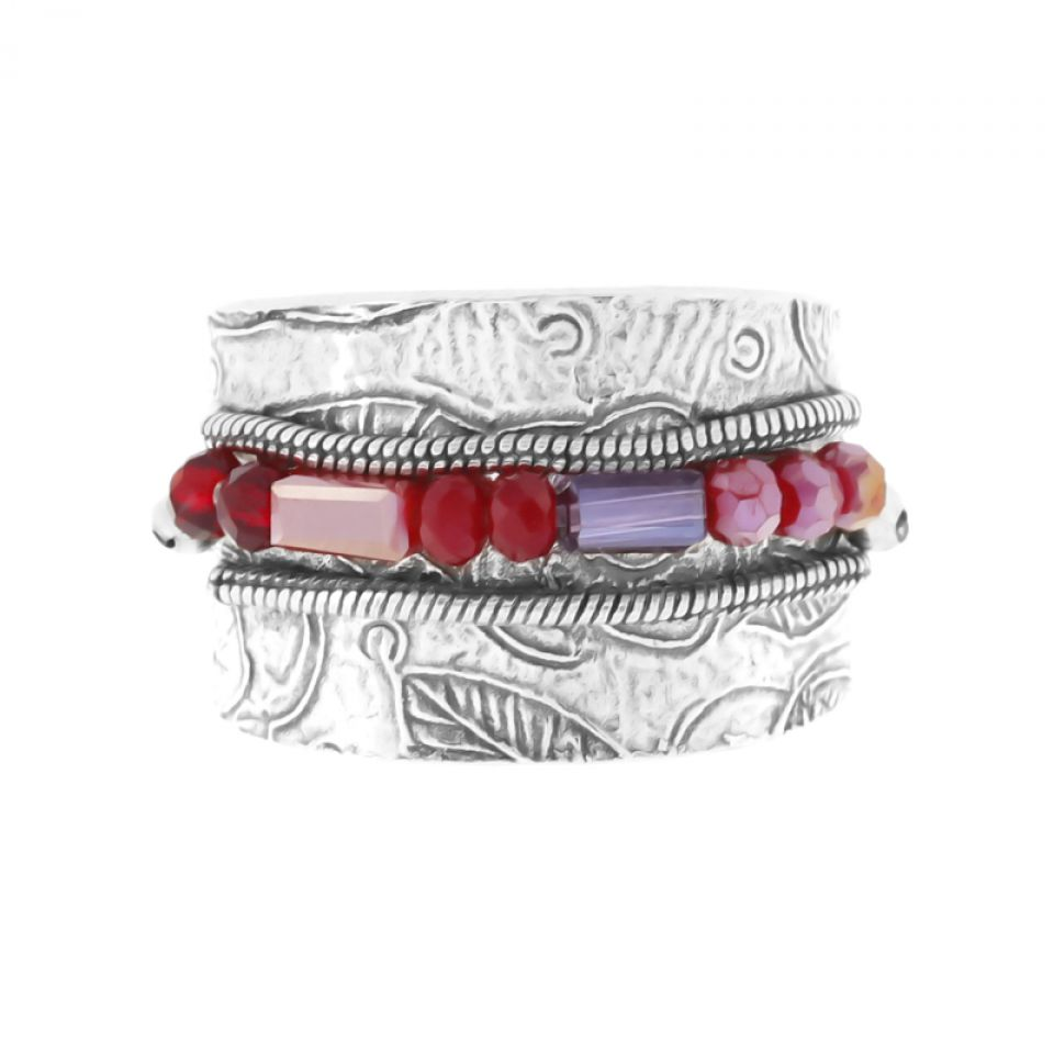 Bague Grenadine Argent Rouge Taratata Bijoux Fantaisie en ligne 3