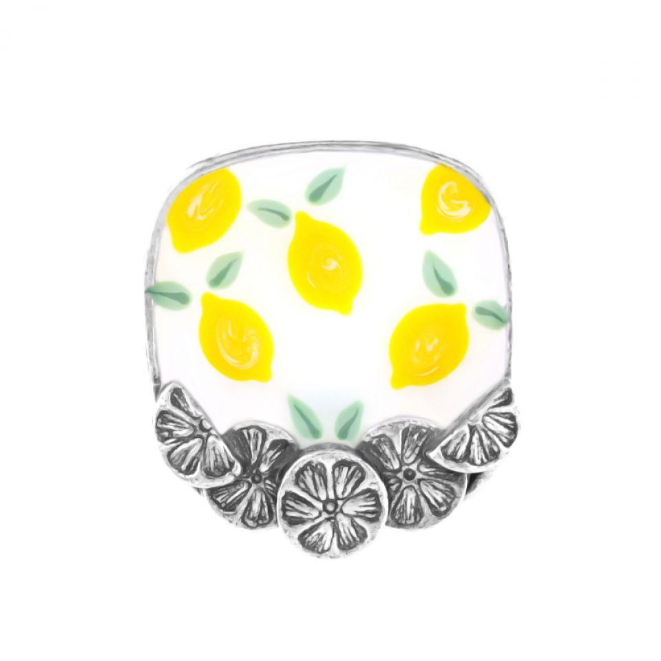 Bague Lemon Argent Jaune Taratata Bijoux Fantaisie en ligne 3