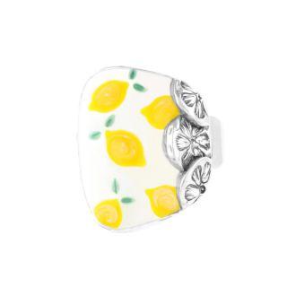 Bague Lemon Argent Jaune