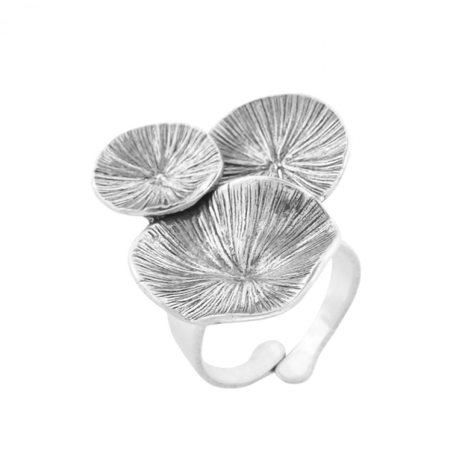 Bague Lotus Argent Taratata Bijoux Fantaisie en ligne 1
