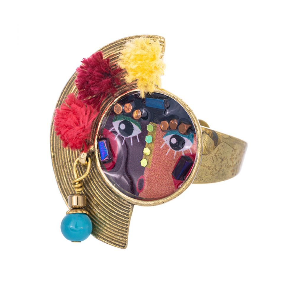 Bague Pleine Lune Bronze Multi Taratata Bijoux Fantaisie en ligne 1