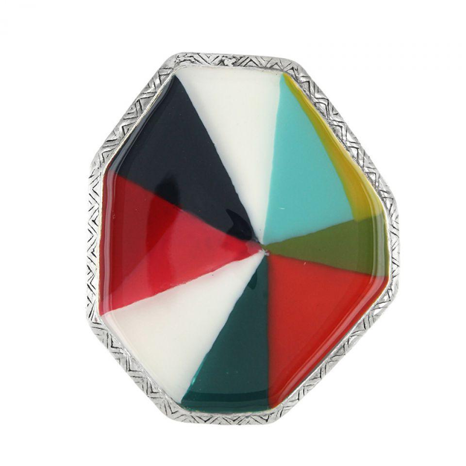 Bague Rainbow Argent Multi Taratata Bijoux Fantaisie en ligne 2